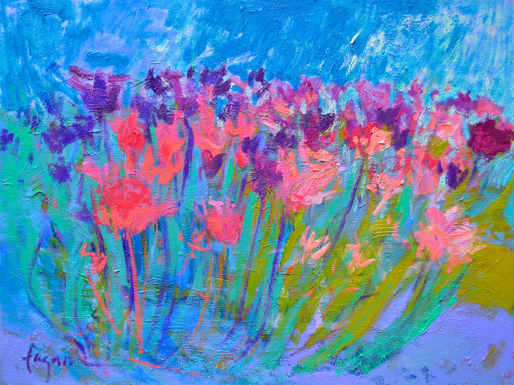 Abstract Tulips Canvas Print by Dorothy Fagan