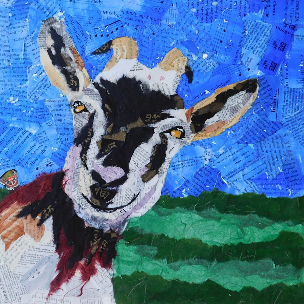 goat collage goat art
