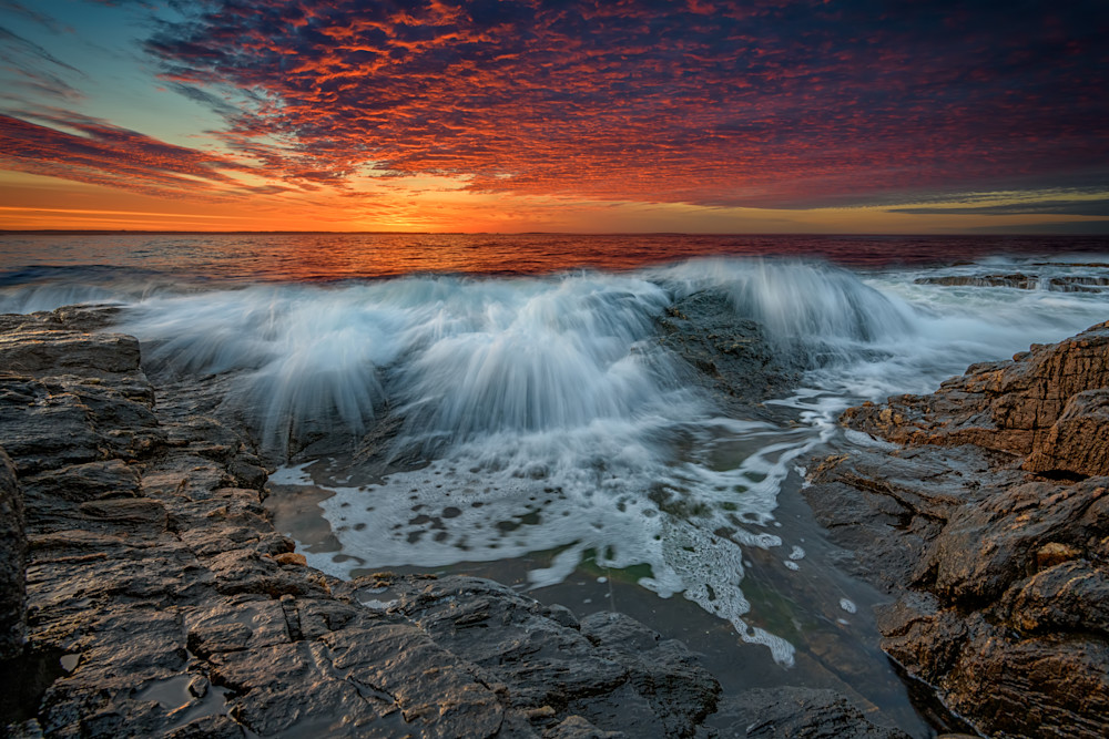Waves Crash at Daybreak by Rick Berk