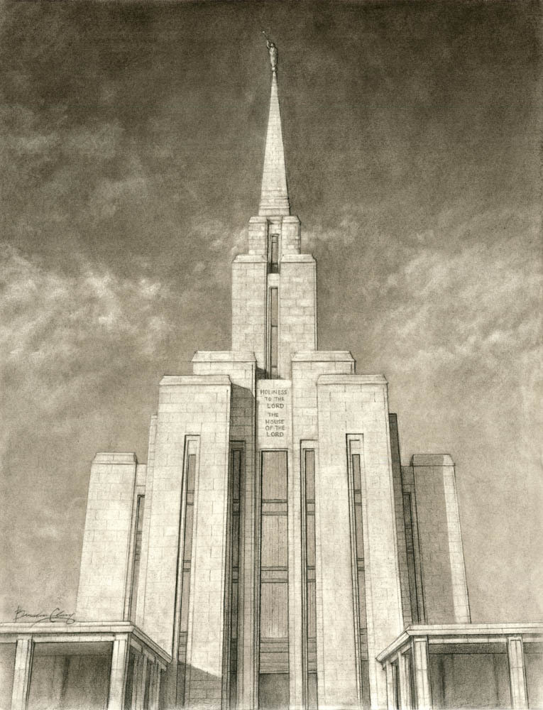 Oquirrh Mountain Temple Drawing