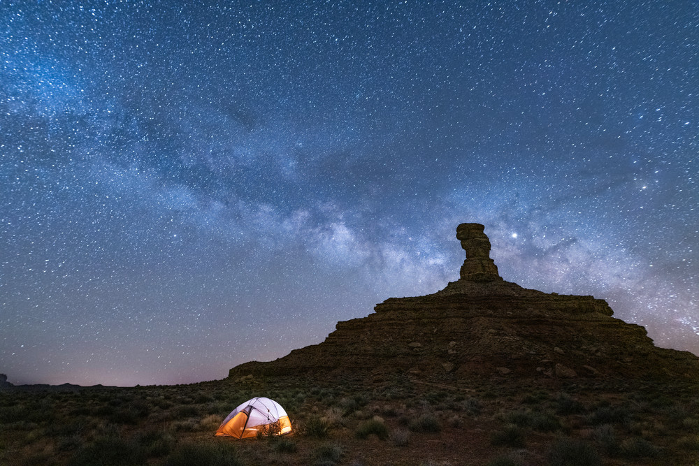 Milky Way Over Rooster Butte Photography Art | marcyephotography