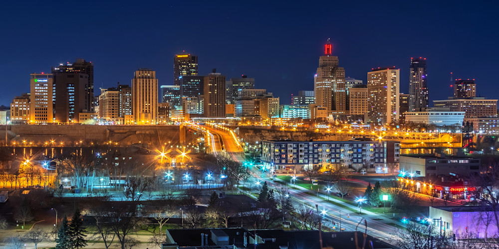 Saint Paul Skyline from the South - Minnesota Photographs