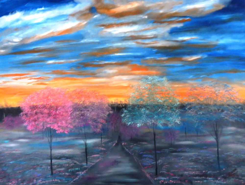 Paradise Walk At Sunset