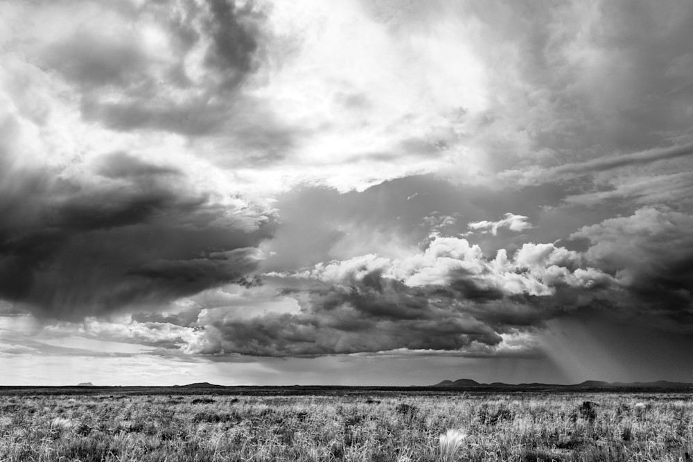 New Mexico Thunderstorms In Black and White | Buy Fine Art Photography by Nathan Larson Photography