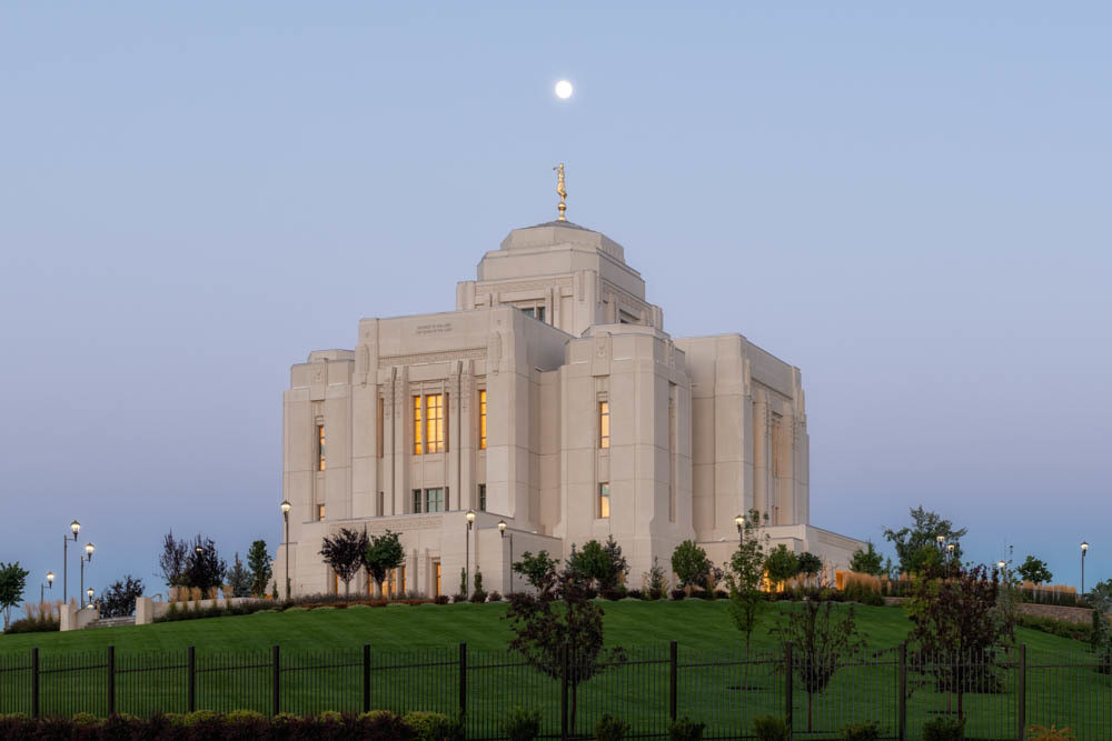 Meridian Temple - At Moonset