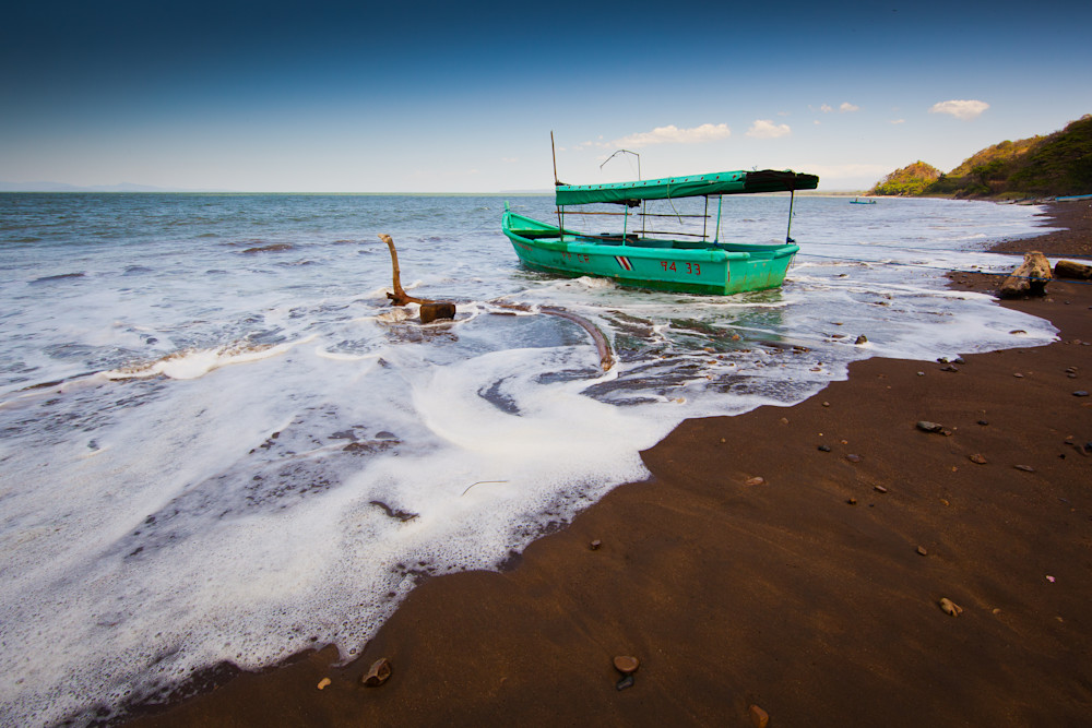 Photographer Vincent DiLeo photographed this colorful boat on the beaches of Costa Rica.