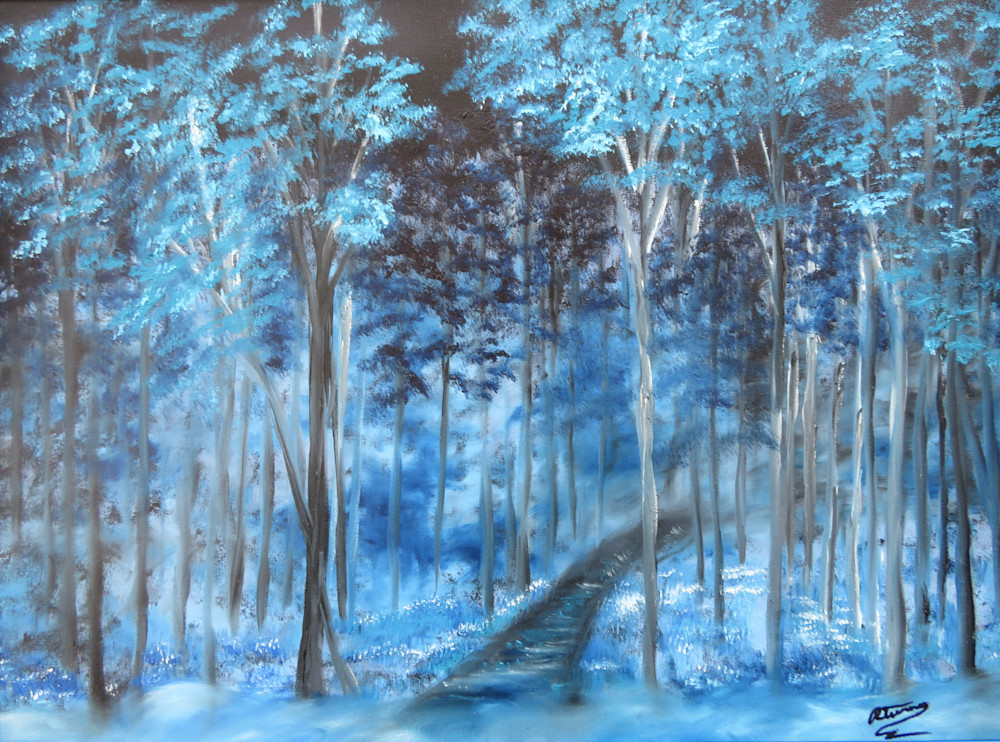 Blue Mist Forest Art | Artist Ron Turner