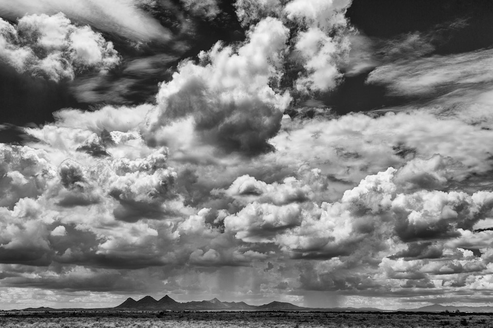 Summer Storms Over Tres Hermanas Mountains in New Mexico