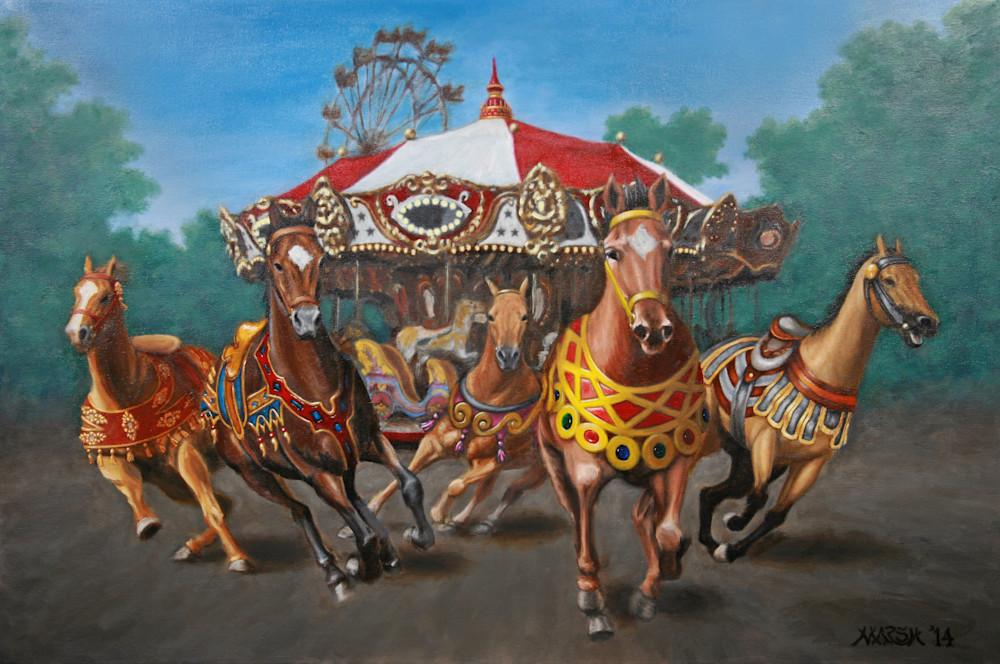 Carousel Escape in the Park Fine Art Prints