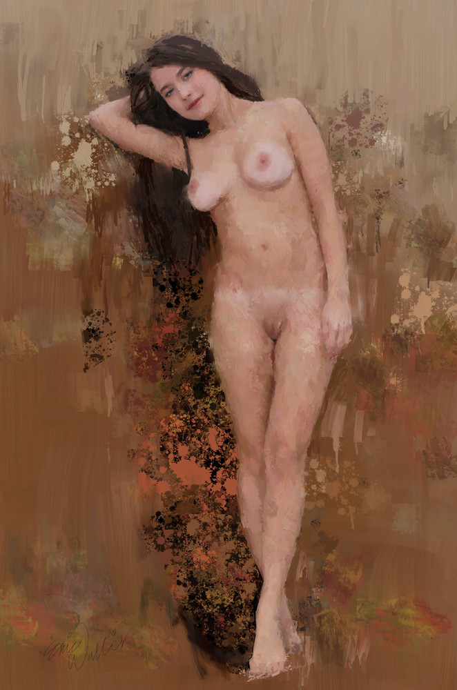 """Digital painting titled """"Hangin Out"""" by Eric Wallis"""