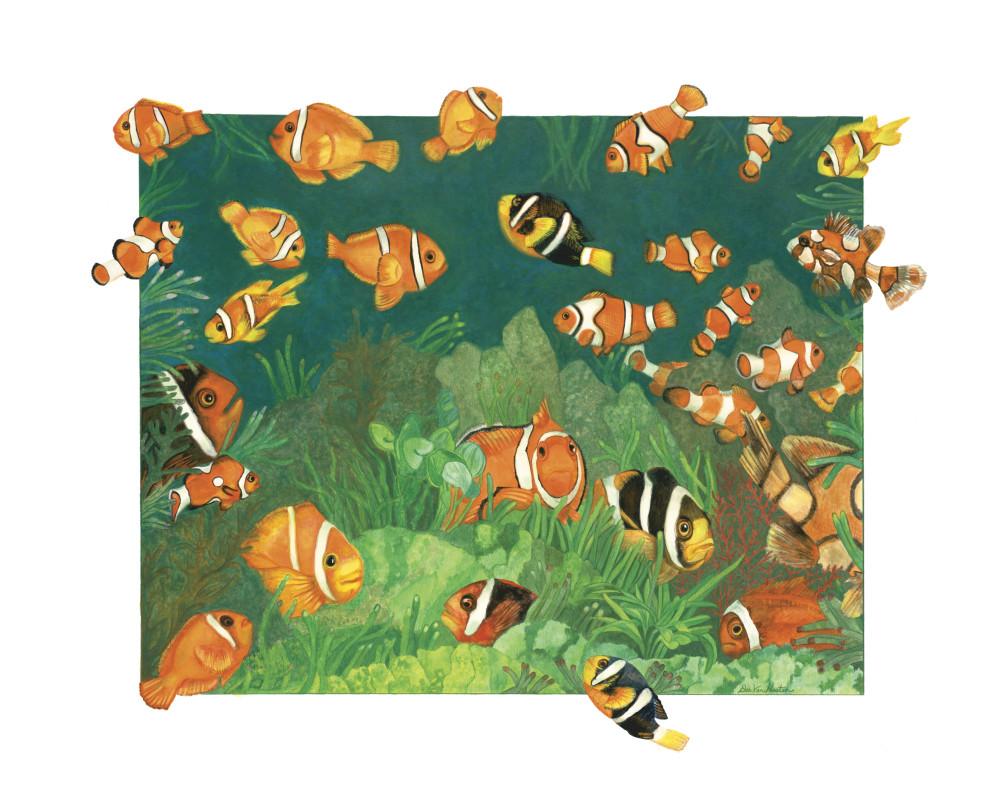 Clownfish Fine Art Giclee Prints by Dee Van Houten