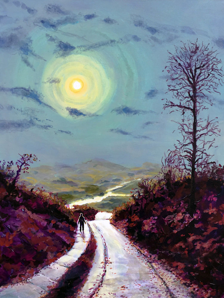 Walking Alone After Midnight  Art | Charles Wallis