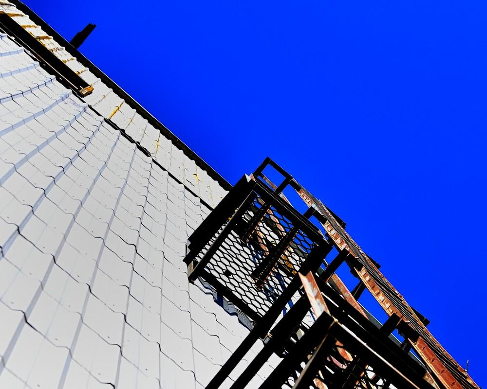 Exterior Ladder On Elevator