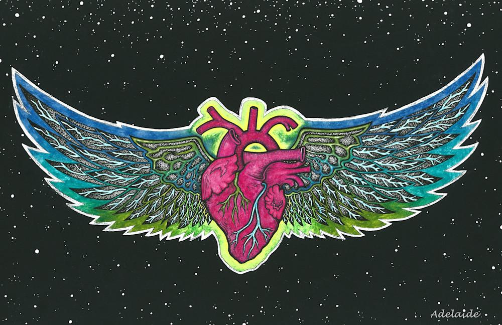 Winged heart art