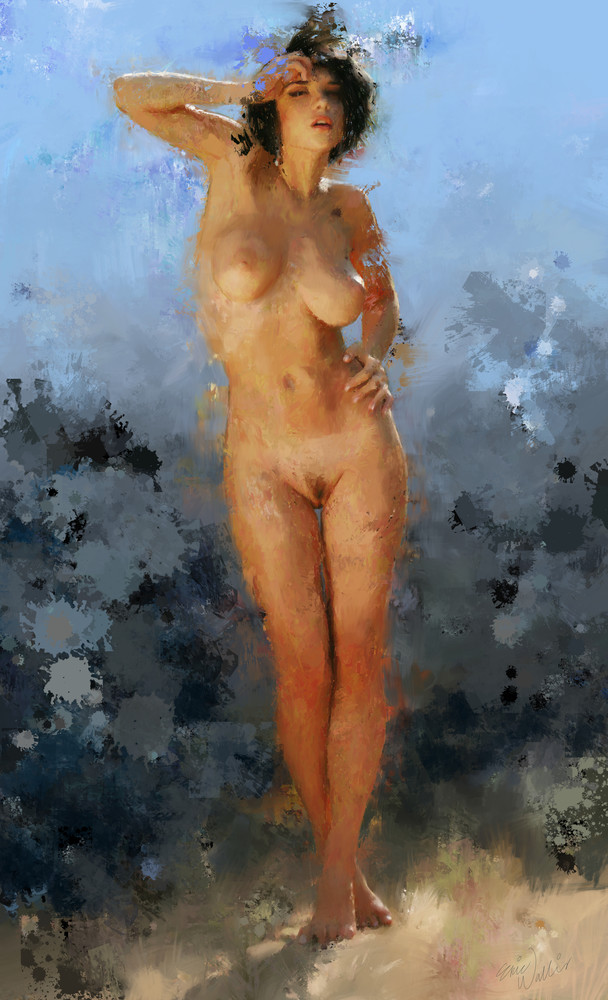 "Digital painting titled ""Epiphany"" by Eric Wallis."