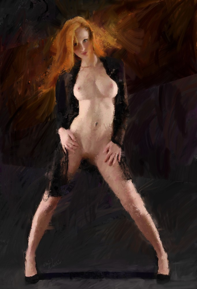 Ginger in Black by Eric Wallis.