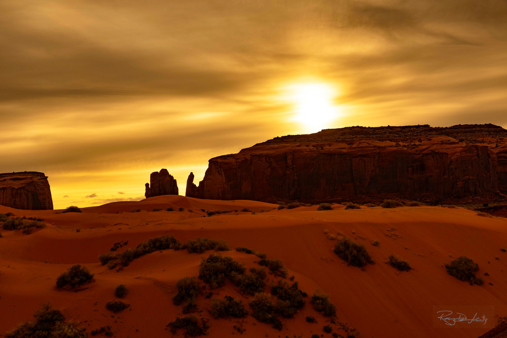 Golden Mittens at Monument Valley