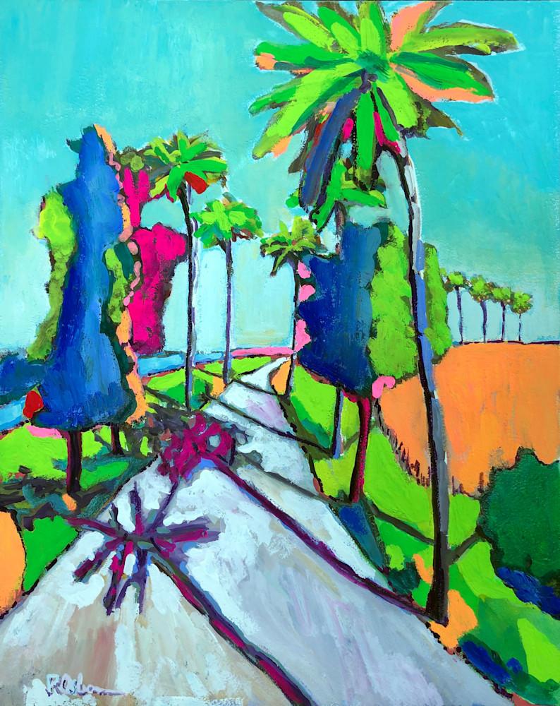 Tropical Trail | Fine Art Painting Print by Rick Osborn