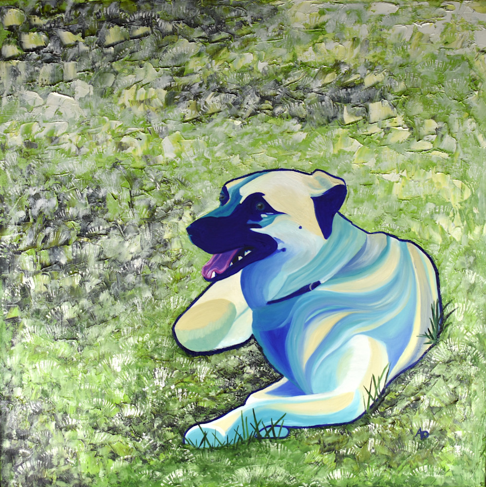 Dog On Grass 300dpi Art | Amy O'Hearn Art