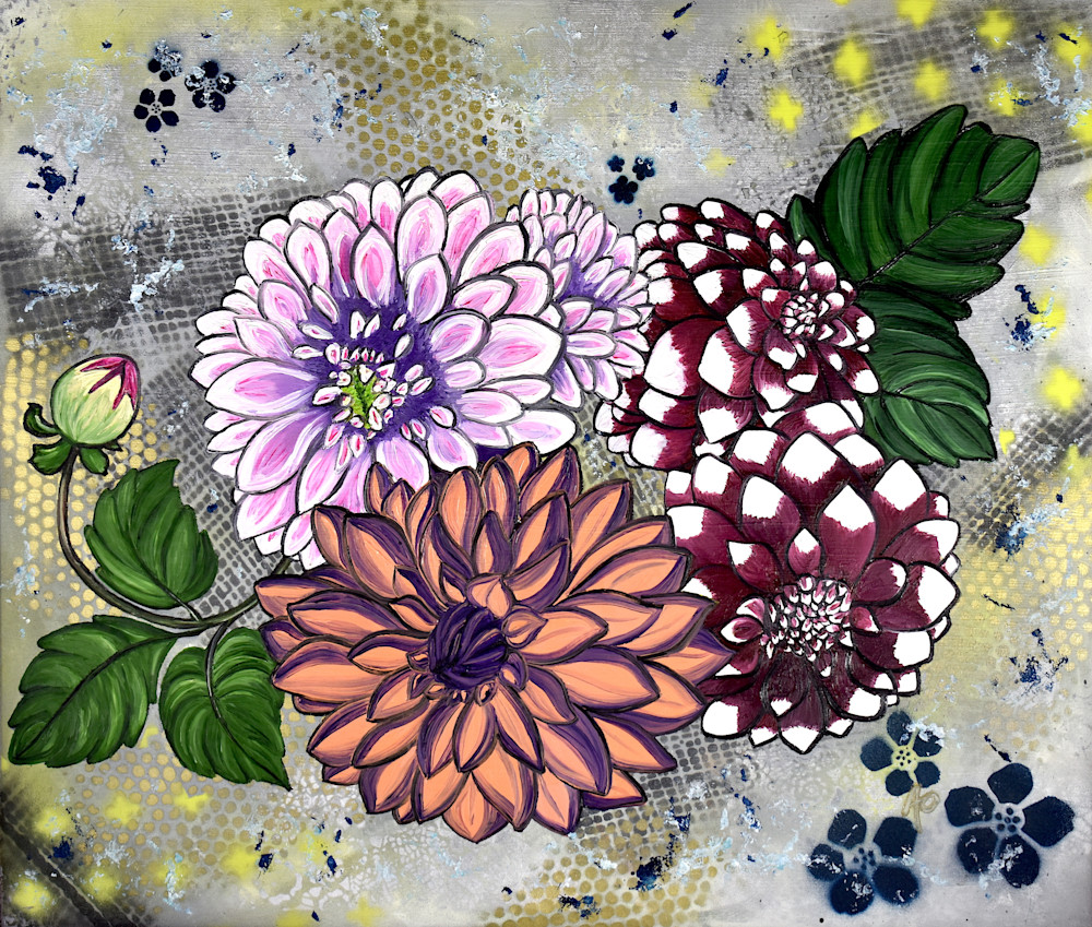 Dahlias On 4th Washington 300dpi Art | Amy O'Hearn Art