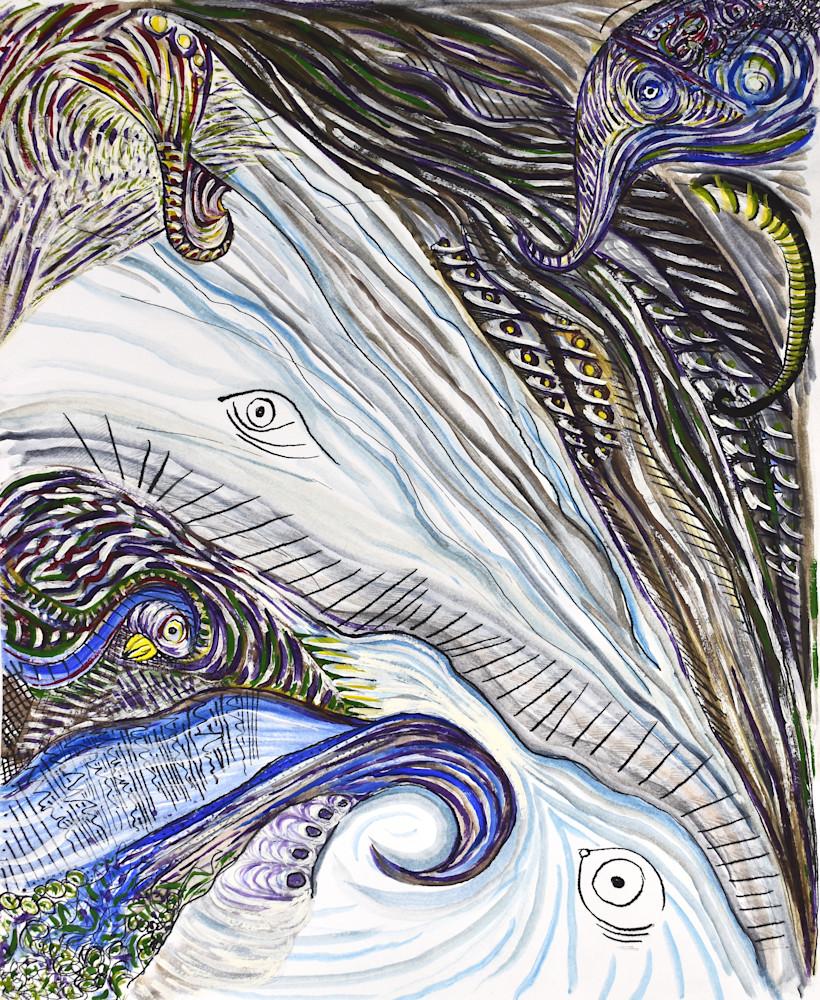 Elephants Birds 300dpi Art | Amy O'Hearn Art
