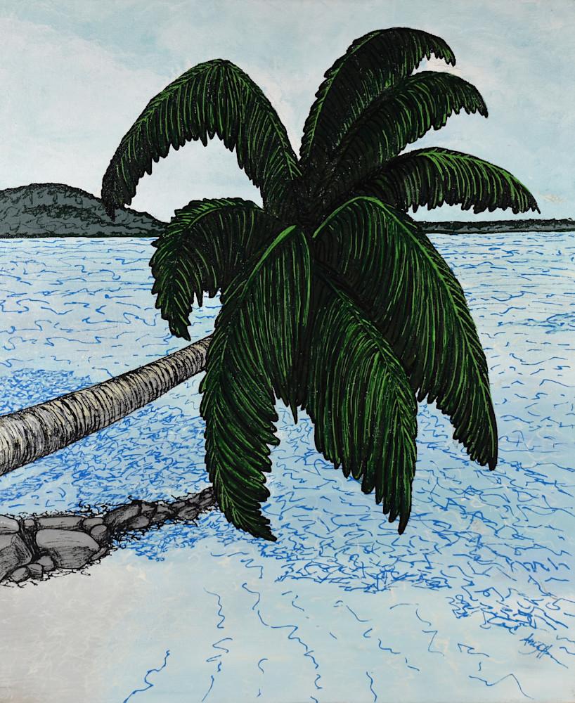 Palm Over Water 300dpi Art | Amy O'Hearn Art
