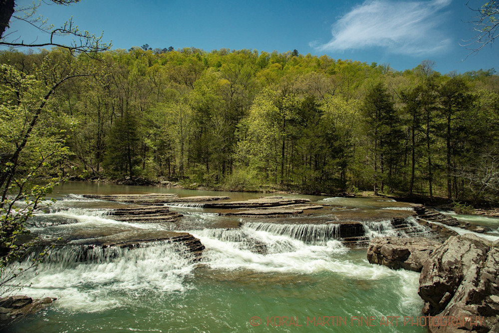 Six Finger Falls in Arkansas Photograph 9955    Waterfall Photography   Koral Martin Fine Art Photography