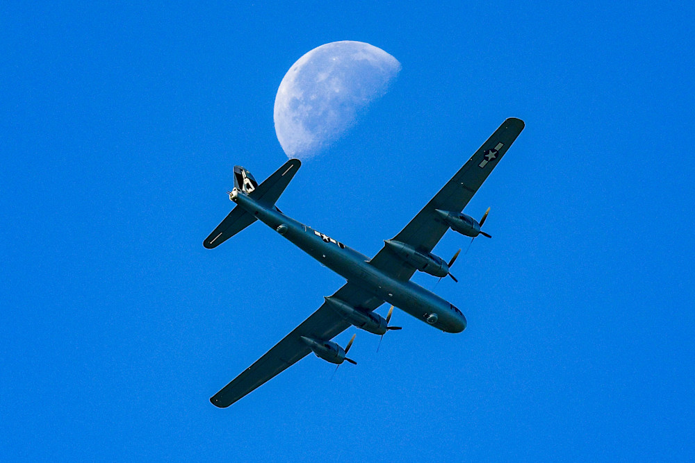 Lunar B-29 Superfortress fine art photography print