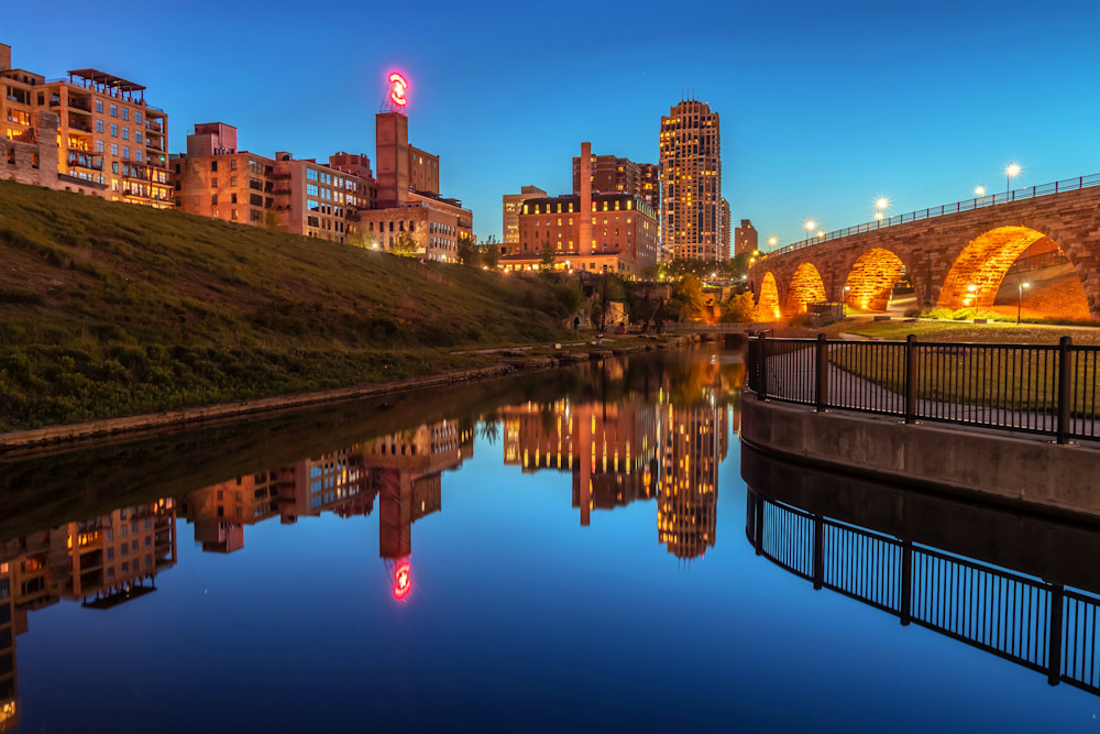 Minneapolis Mill Reflections - MPLS Skyline Art | William Drew Photography