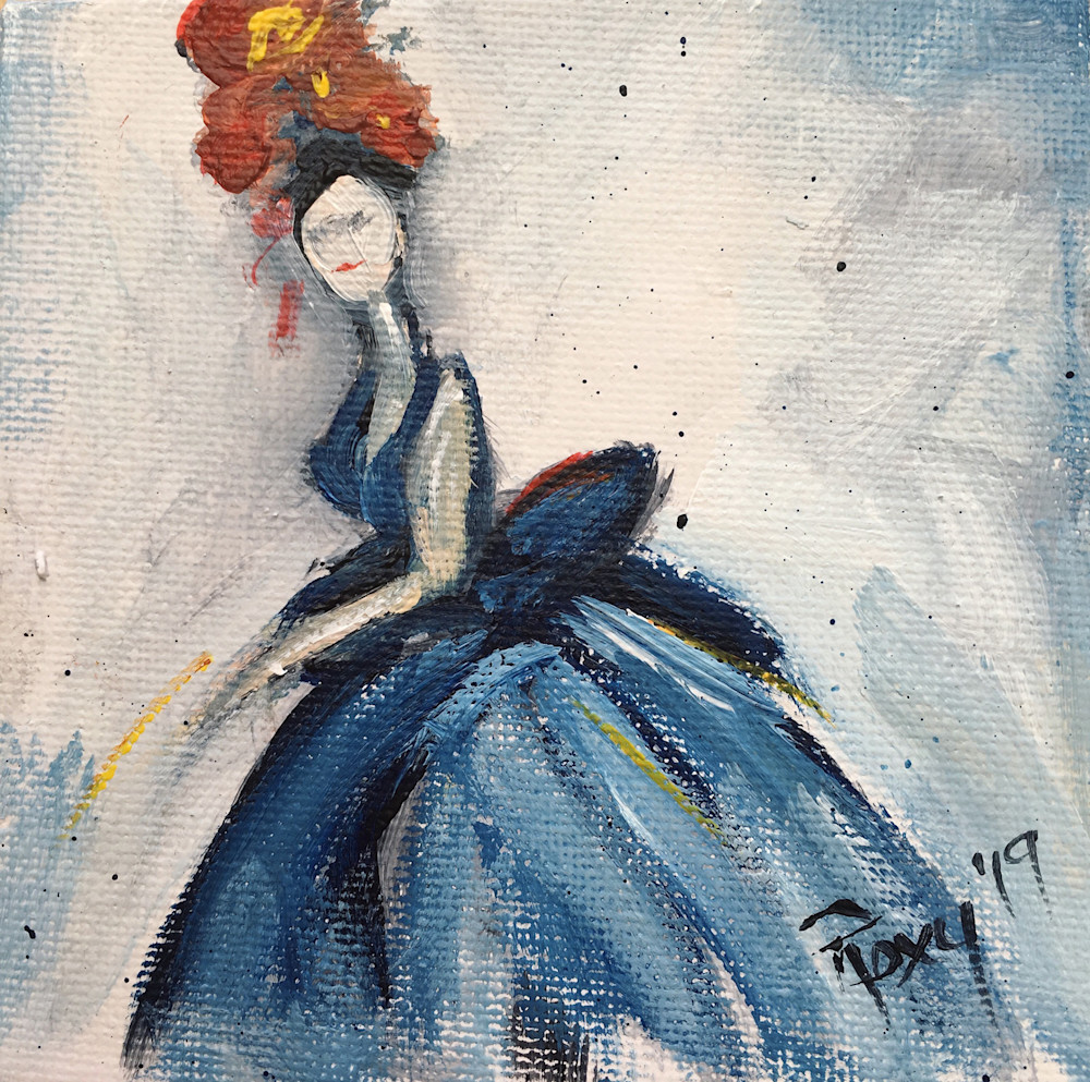 To the Ball elegant lady in a dress painting
