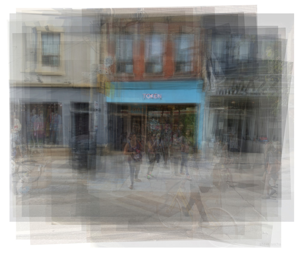 Overlay art – contemporary fine art prints of Token Shop in Toronto