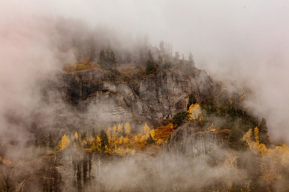 Low Hanging Clouds on Mountain Photograph 8606 MDR | Colorado Photography | Koral Martin Fine Art Photography