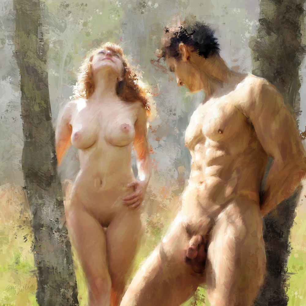 """Naturist Couple"" by Eric Wallis."