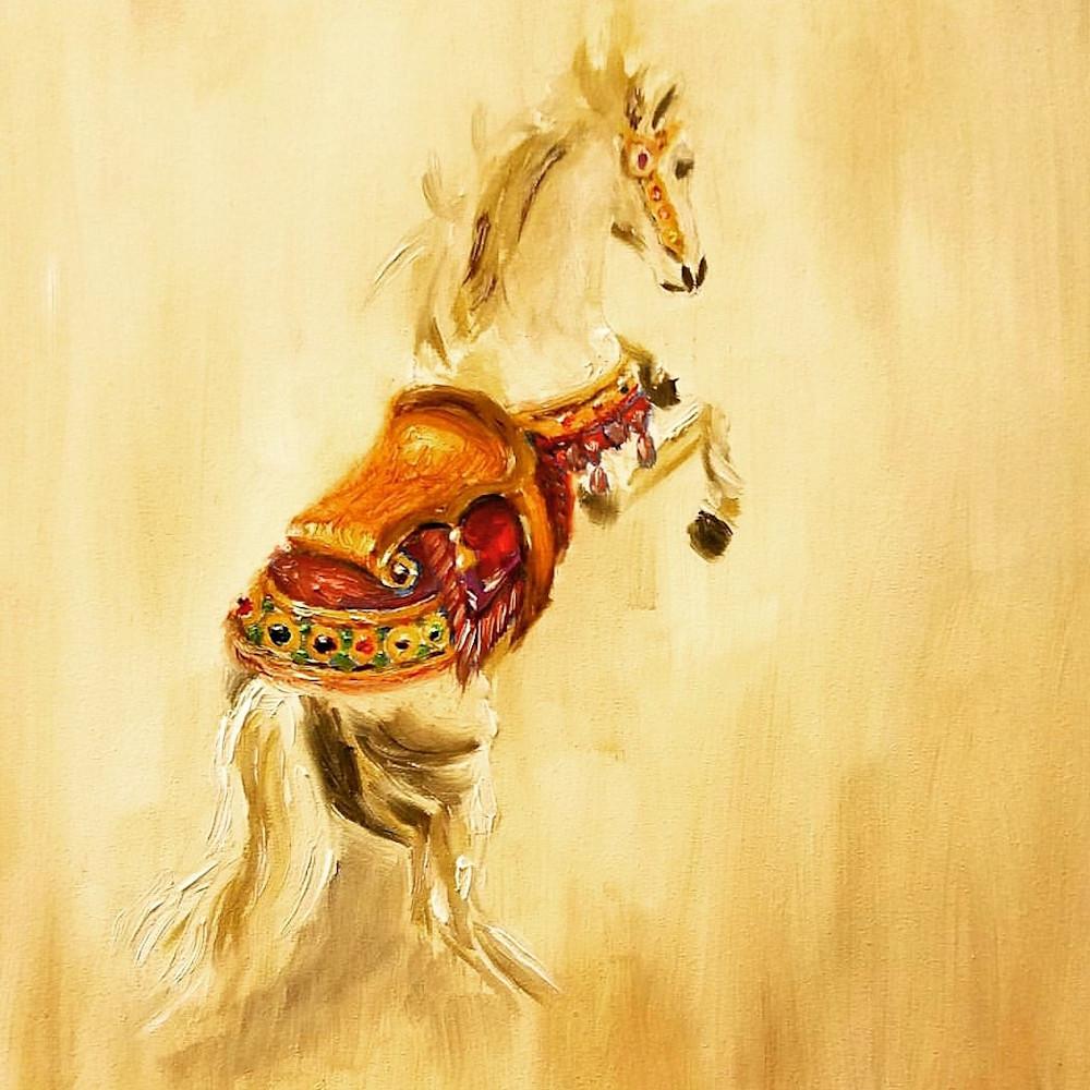 Carousel Horse Rearing Fine Art Prints