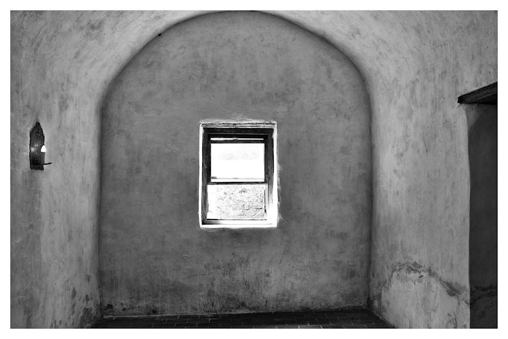 Interior walls of Mission Nuestra Señora de la Purísima Concepción de Acuña | San Antonio | Black and White Photographs | Nathan Larson