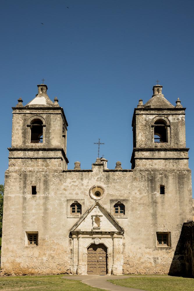 Exterior of Mission Nuestra Señora de la Purísima Concepción de Acuña | San Antonio | Nathan Larson Photography