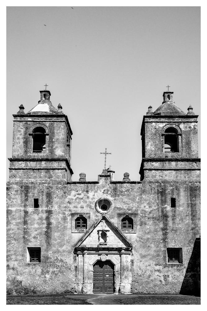 Mission Nuestra Señora de la Purísima Concepción de Acuña | San Antonio | Black and White Photographs | Nathan Larson