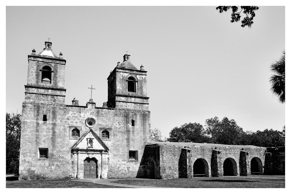 Mission Concepción | San Antonio Texas | Black and White Photographs | Nathan Larson