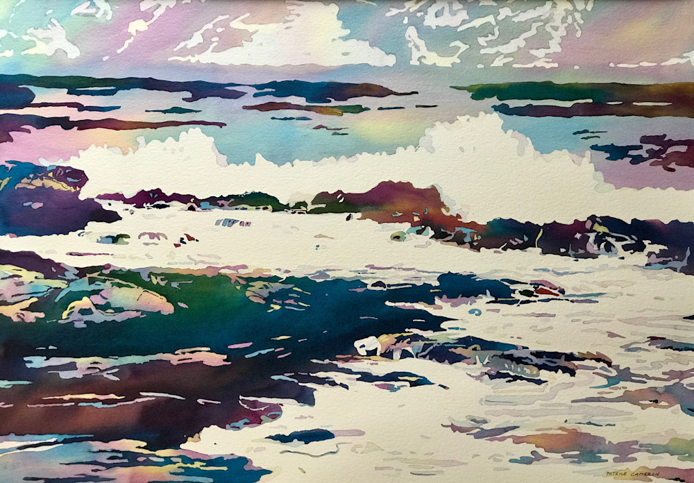 Exciting and Energetic Watery Movement!  Shop Prints/ Patrice Cameron Art
