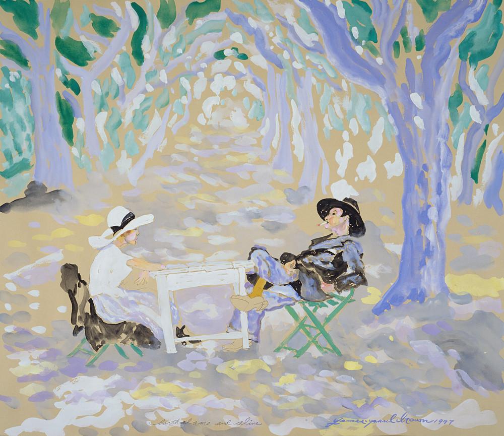 Yvette And Archie By James Paul Brown Art   Artiste Winery & Tasting Studio
