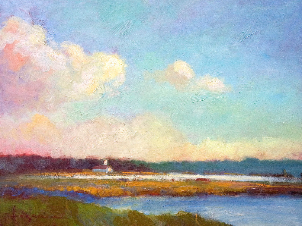 Nansemond River Painting, Fine Art Print, Evening Mystery by Dorothy Fagan