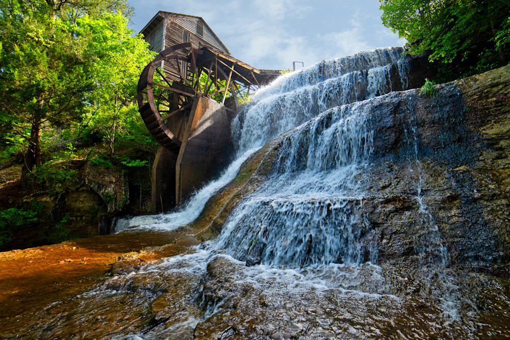 Dunn's Fall Mill in color photography print