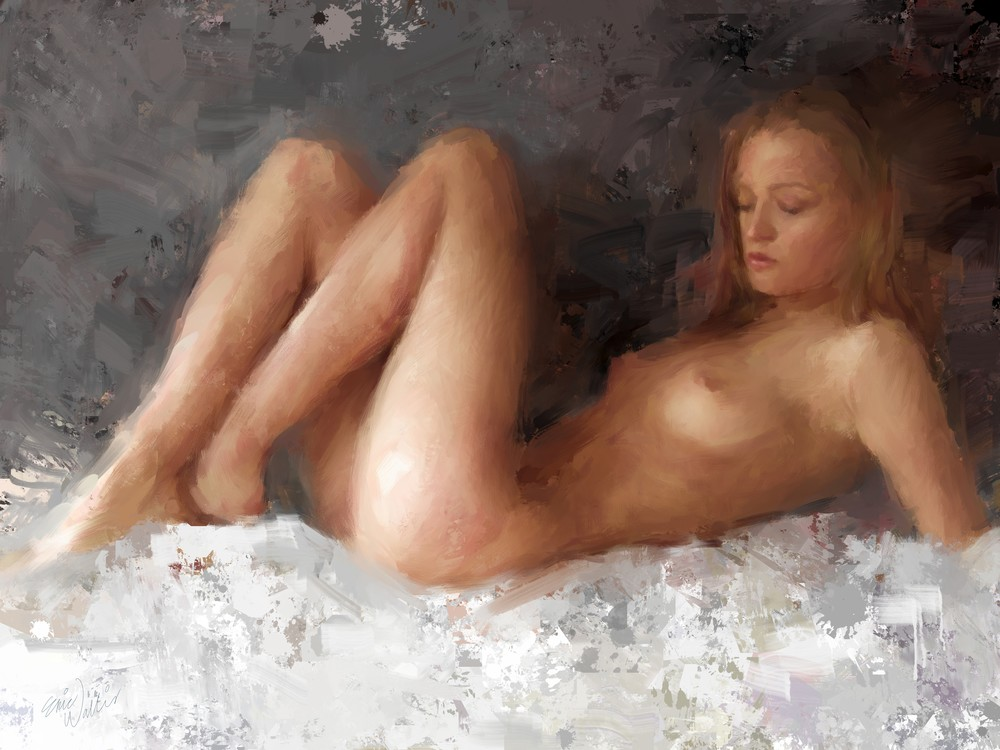 Nude on White by Eric Wallis.