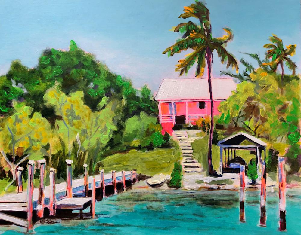 Channel House Bahamas | Fine Art Painting Print by Rick Osborn