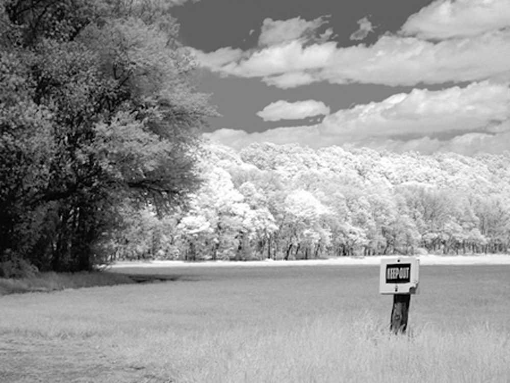 Infrared Keep out  | Infrared Photography | Koral Martin Fine Art Photography