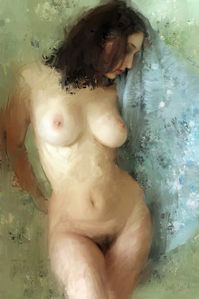 Nude with Towel by Eric Wallis.