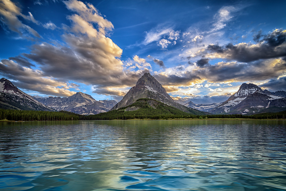 Mount Grinnell & Swiftcurrent Lake by Rick Berk