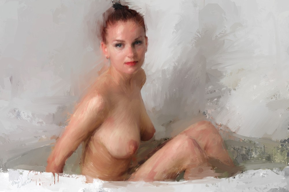 Enjoying A Bath by Eric Wallis.