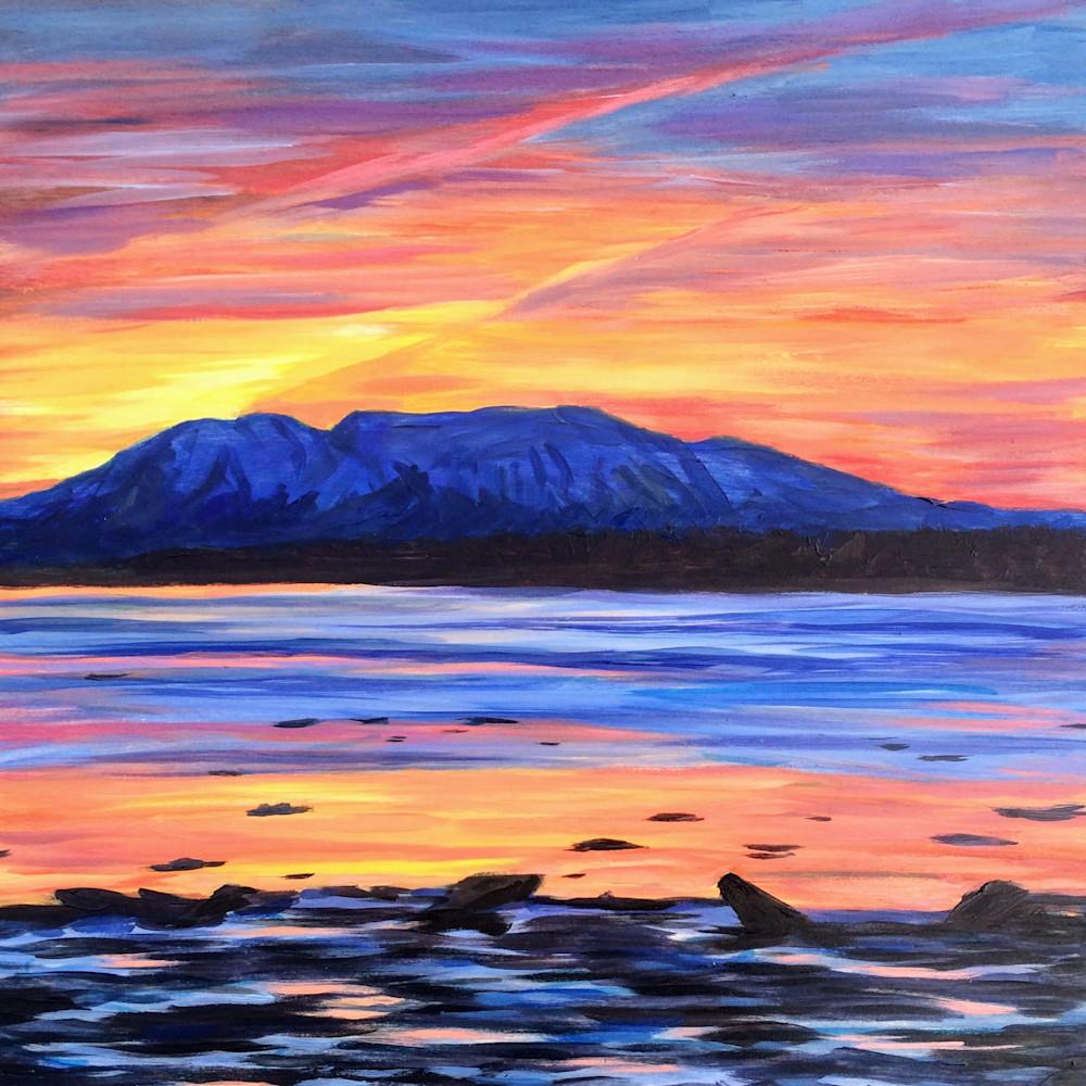 Prismacolor Mt Susitna - Alaska art print