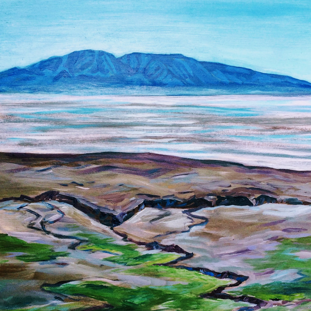 Sleeping Lady Spring Tide   Alaska Art Print Art | Amanda Faith Alaska Paintings